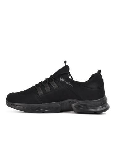 Walkway Montreal Siyah-Füme Erkek Spor Ayakkabı Siyah